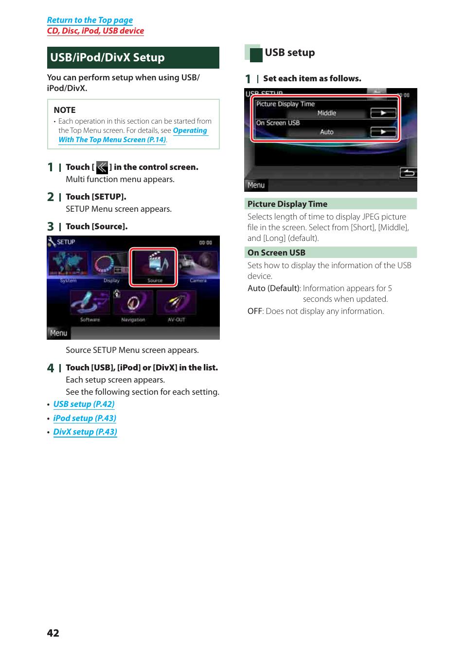 usb ipod divx setup kenwood dnx6980 user manual page 43 111 rh manualsdir com DNX6980 Kenwood iPod Cable Kenwood Car Stereo