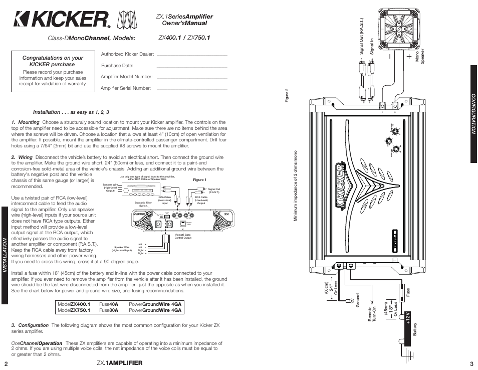 kicker zx400 1 wiring diagram wiring schematics and diagrams hi level input on off sub sonic kicker zx400 1 user