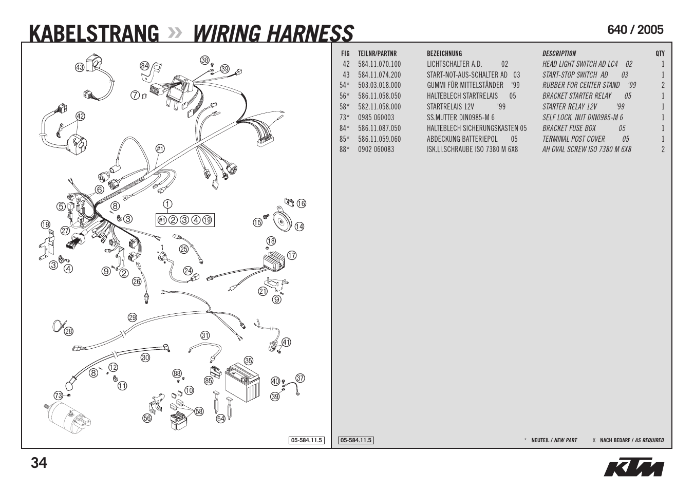 Kabelstrang  Wiring Harness
