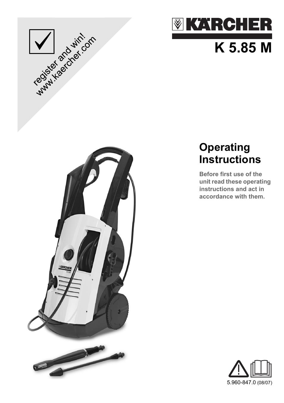 Karcher K 5 85 M User Manual | 12 pages