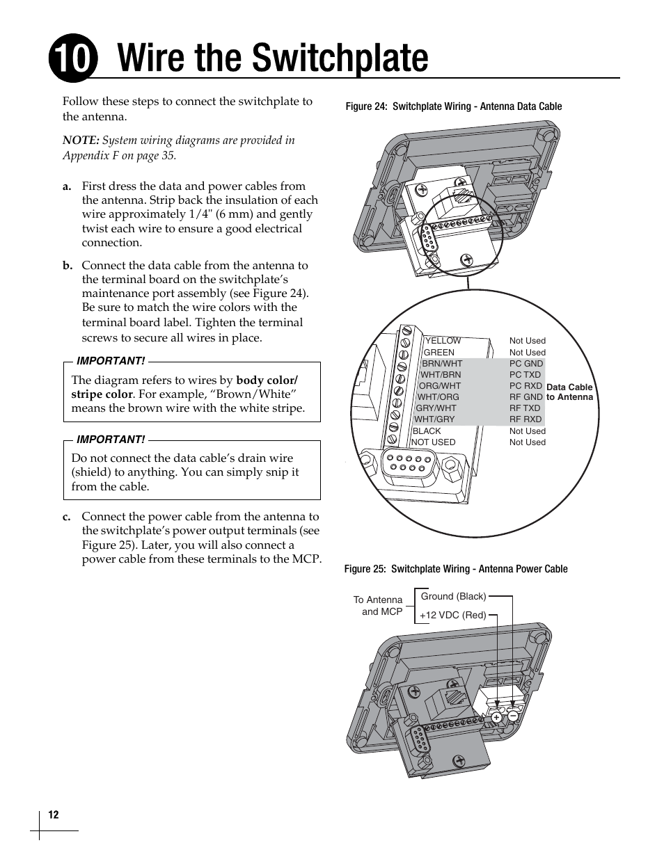 Electrical Wiring Black White Stripe