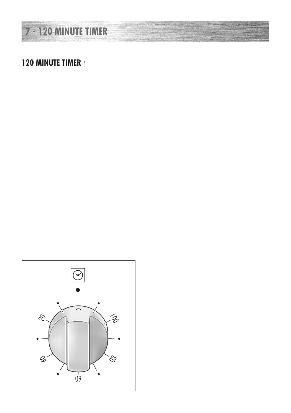 7 120 minute timer kenwood ck 300 user manual page 20 48