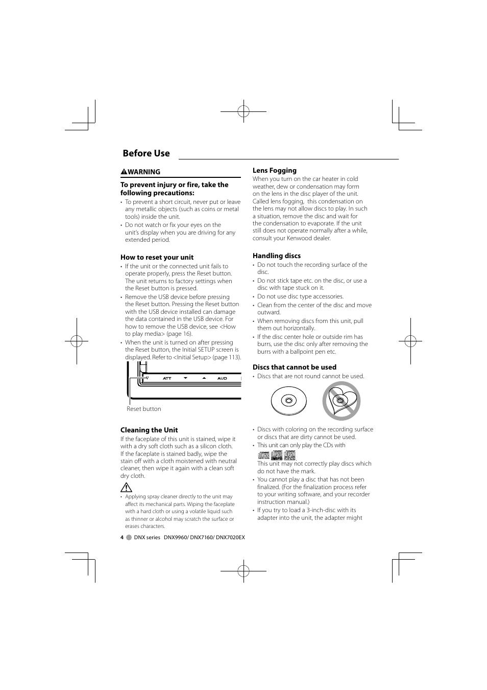 before use kenwood ddx8046bt user manual page 4 124 rh manualsdir com