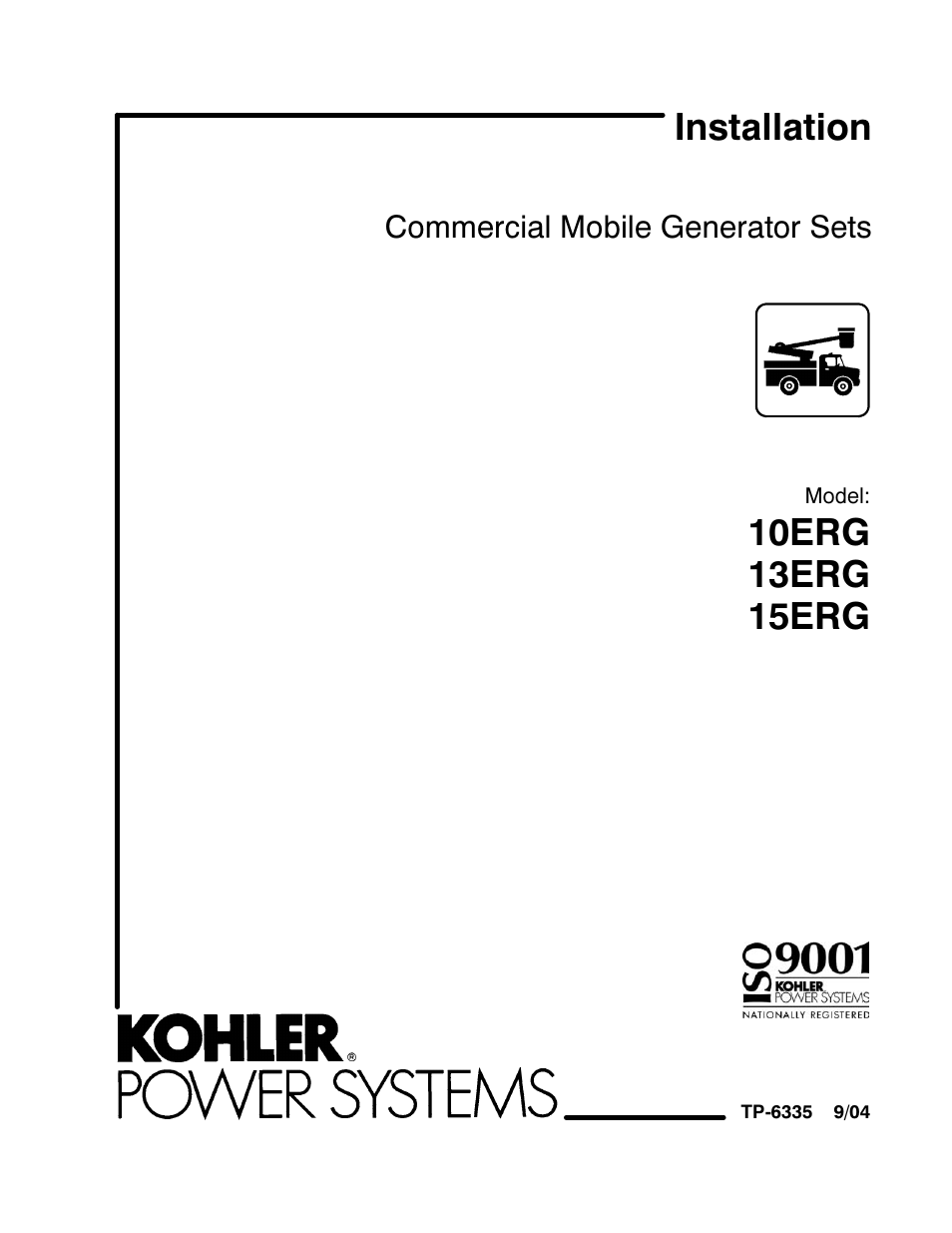 Kohler 13erg User Manual 52 Pages Also For 10erg 15erg Commercial Service Entrance Wiring Diagram