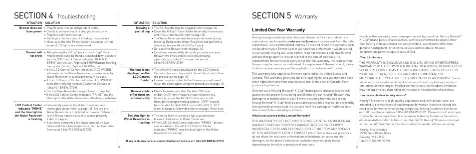 warranty troubleshooting limited one year warranty keurig b70 rh manualsdir com keurig b70 manual pdf keurig platinum manual