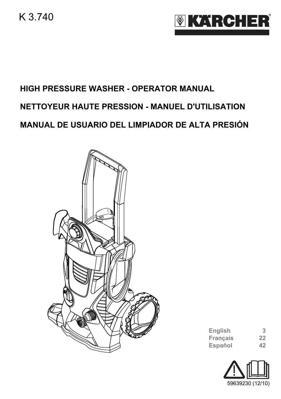 karcher k 3 740 user manual