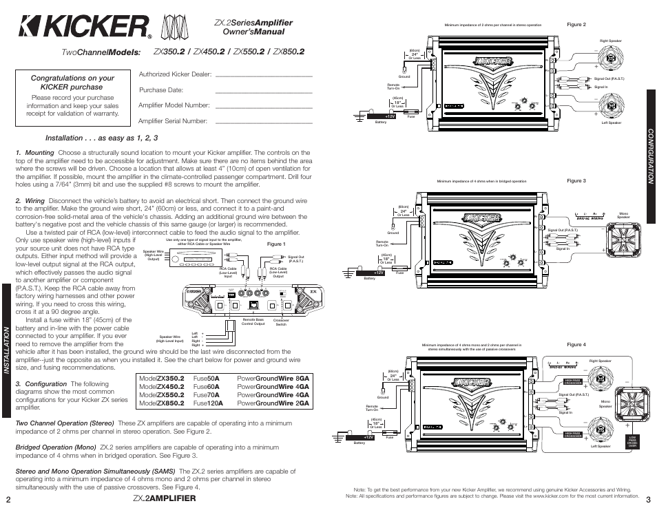 kicker zx3502 page2 hi level input off hi lo, installation as easy as 1 Kicker Zx350.4 Fader at panicattacktreatment.co