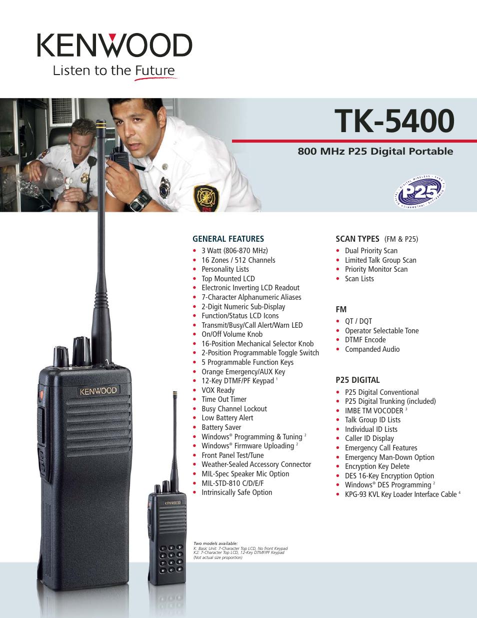 kenwood tk 5400 user manual 2 pages rh manualsdir com Kenwood Digital Two-Way Radios Kenwood Two-Way Radio Dealer