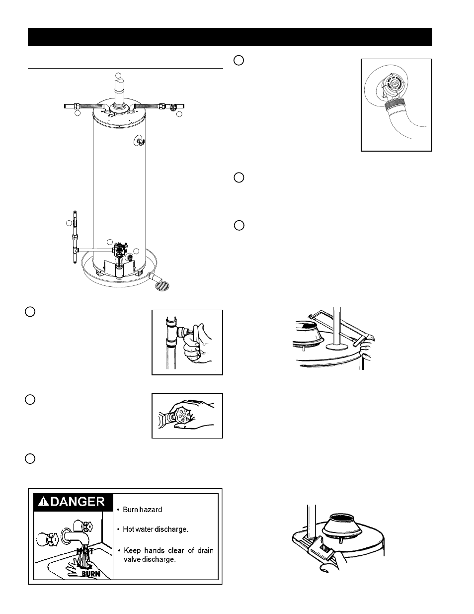 Installation instructions, Removing the old water heater   Kenmore Power  Miser 9 Gas Water Heater