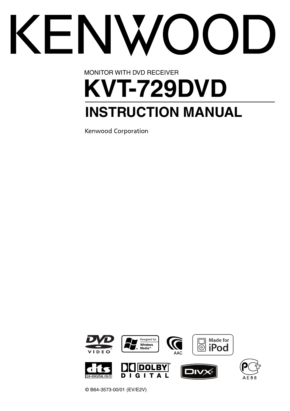 kenwood kvt 729dvd page1 kenwood kvt 729dvd user manual 100 pages kenwood kdc mp238 wiring diagram at crackthecode.co