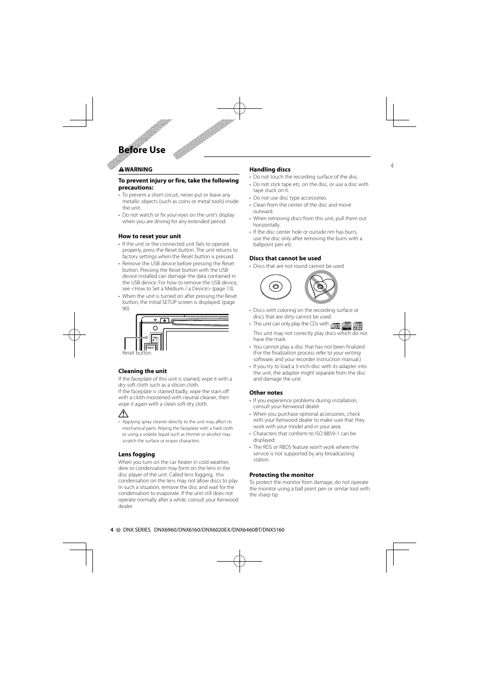 before use kenwood dnx6160 user manual page 4 100 rh manualsdir com  kenwood dnx6160 manual