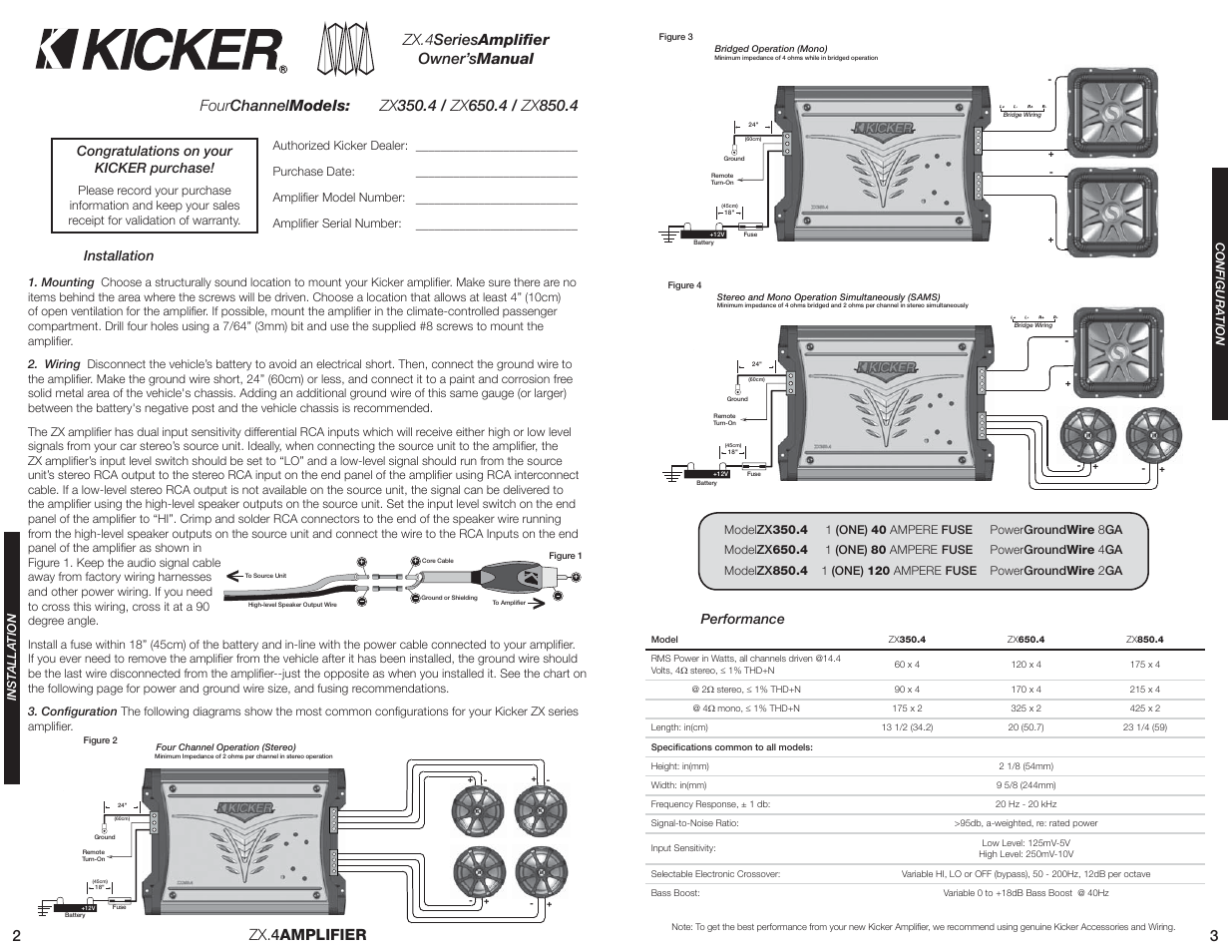 2zx 4amplifier kicker zx650 4 user manual page 2 3 4amplifier kicker zx650 4 user manual page 2 3