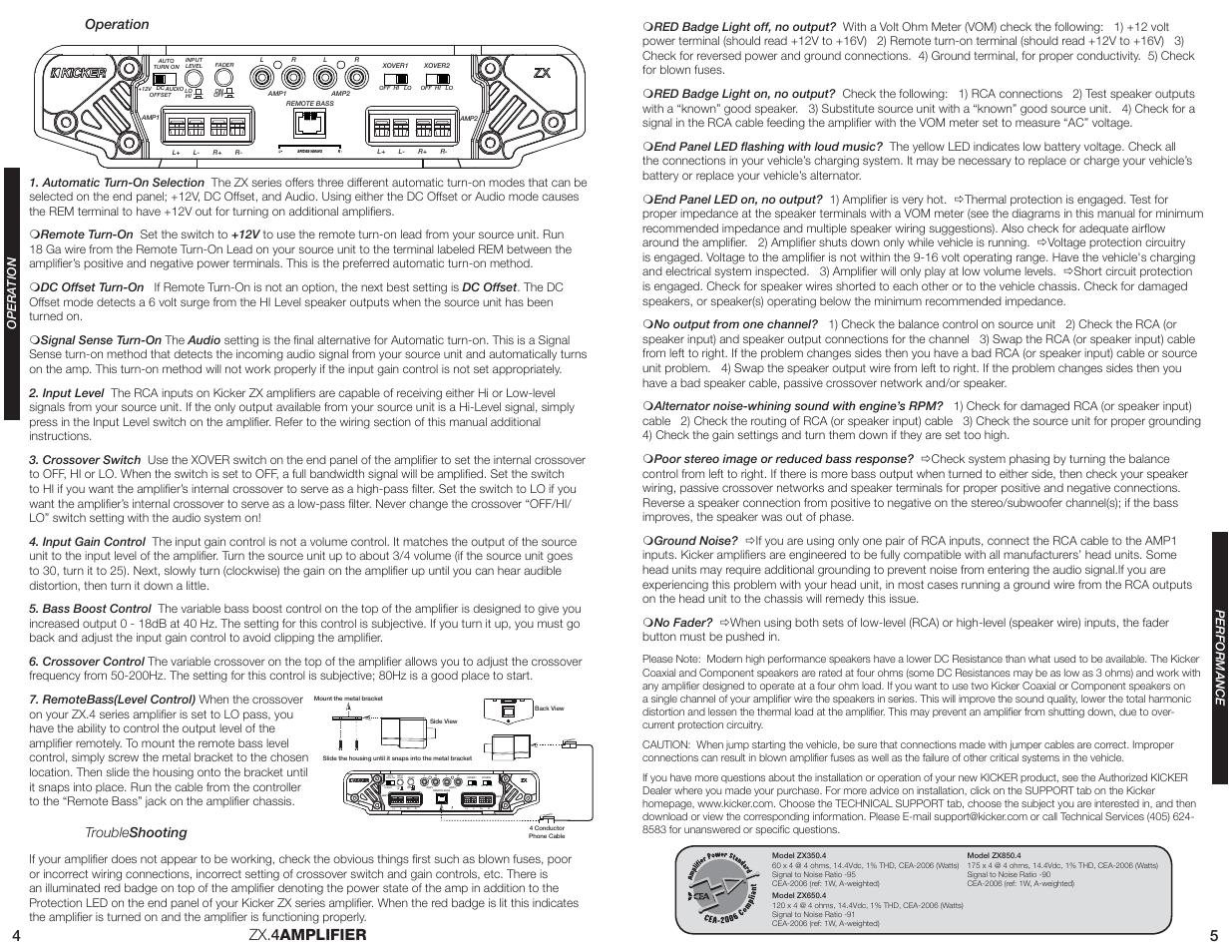 Kicker ZX650.4 User Manual   Page 3 / 3
