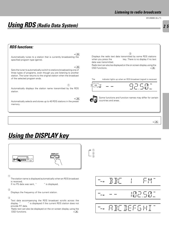 Displaying radio PS (Program Service Name) and RT (Radio Text)