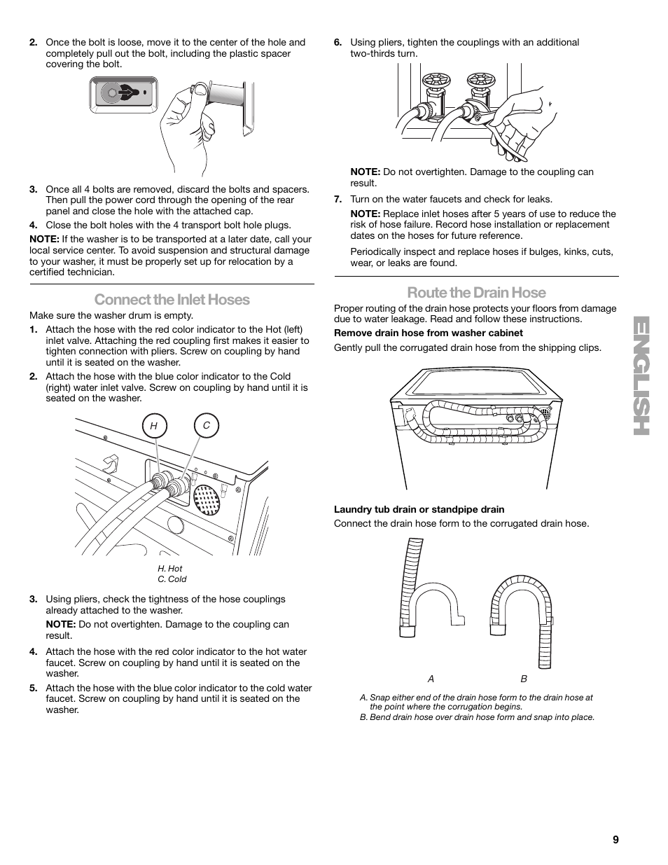 kenmore elite he5t wiring diagram connect the inlet hoses  route the drain hose kenmore elite he5t  kenmore elite he5t