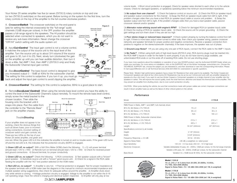 Zx  3/ zx  5amplifier 4 5 | Kicker ZX550 3 User Manual | Page 3 / 4