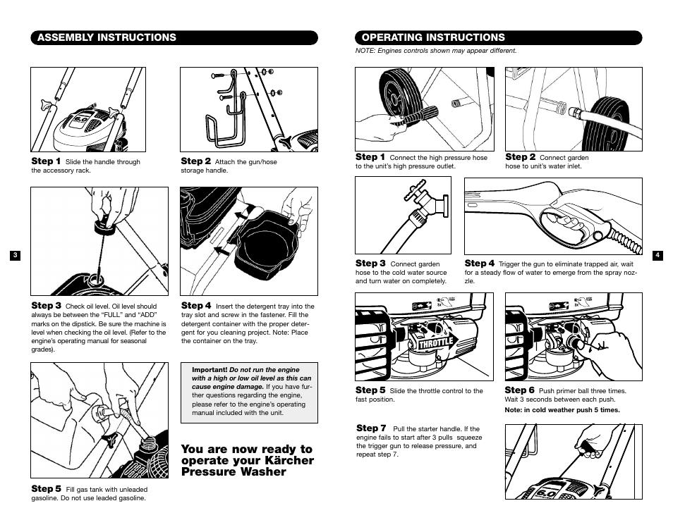 Operating Instructions Assembly Instructions Karcher K 2301 User