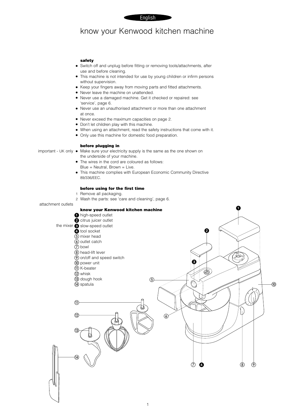 Know Your Kenwood Kitchen Machine English Chef Km400 Socket Wiring Diagram Series User Manual Page 3 43