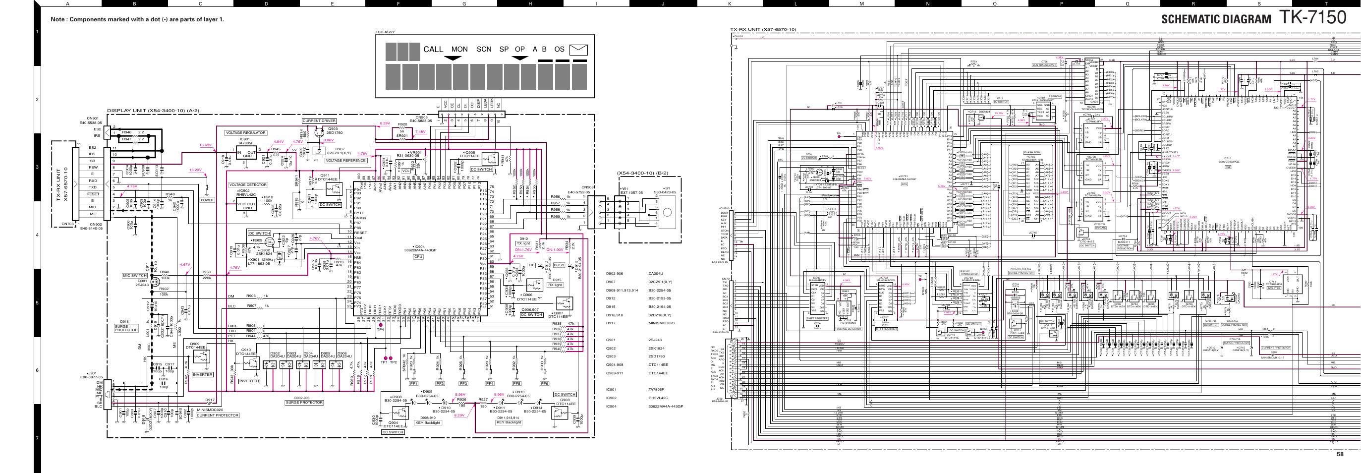 Schematic Diagram  Display Unit  X54