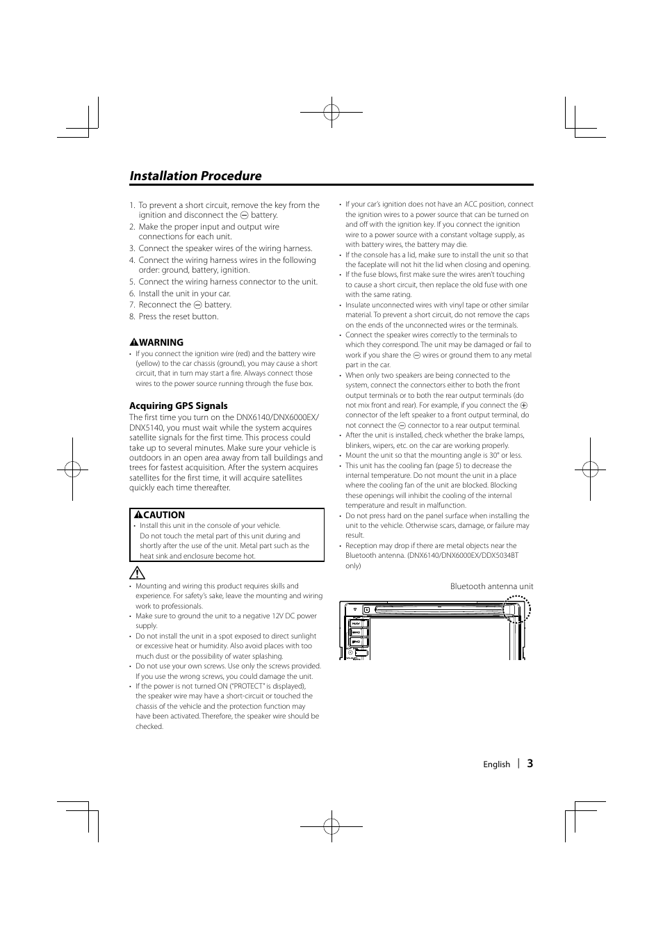 installation procedure kenwood ddx5034 user manual page 3 32 rh manualsdir com Kenwood DNX5140 Manual Installation Owner's Manual Kenwood DNX6140
