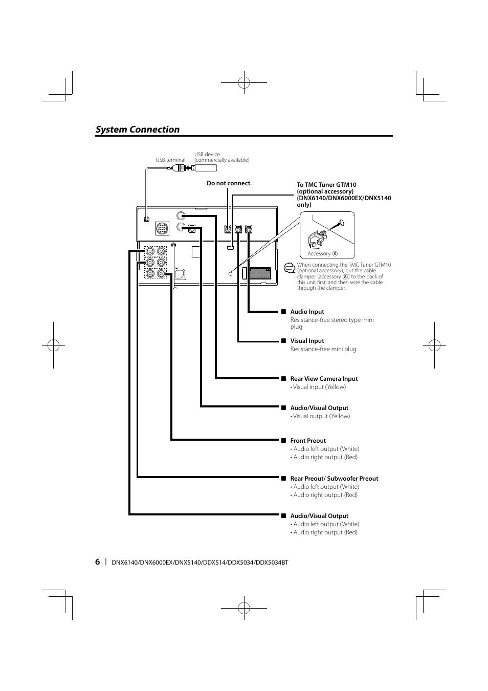 system connection kenwood ddx5034 user manual page 6 32 rh manualsdir com kenwood dnx5140 installation manual Kenwood DNX5140 Update