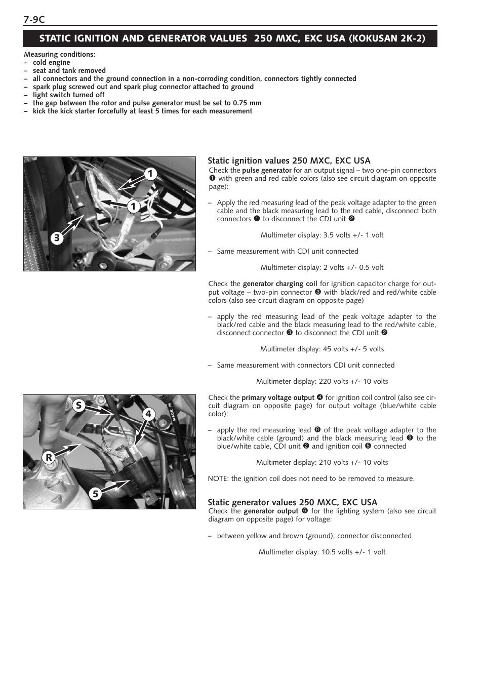 Ktm 250 Sx User Manual Page 76 153 Also For 300 380sx Wiring Diagram Ignition Coil Plug Black Or