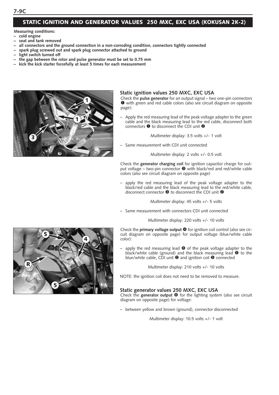 Ktm 250 Sx User Manual Page 76 153 Also For 300 380sx 5 Volt Circuit Diagram