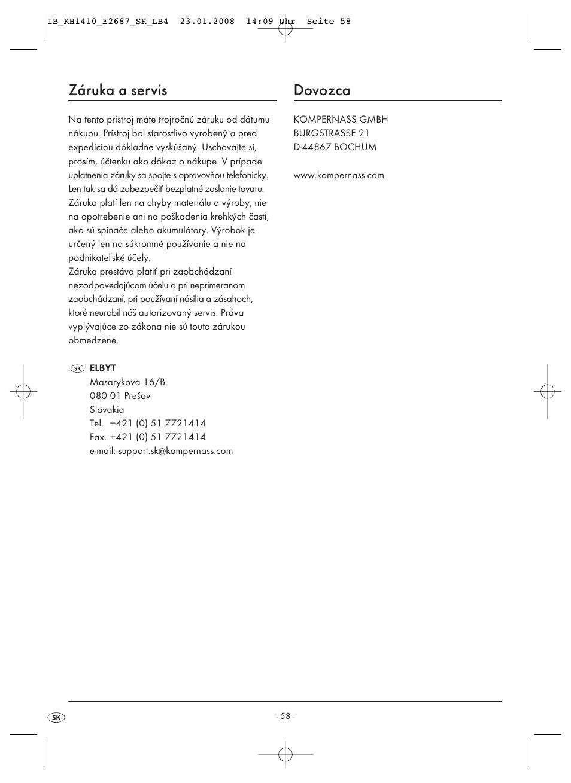 z ruka a servis dovozca kompernass kh 1410 user manual page 60 rh manualsdir com Instruction Manual Clip Art Operators Manual