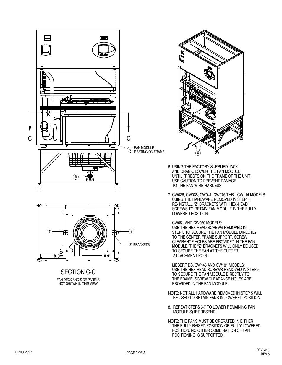 Liebert EC FAN CW076 THRU CW114 User Manual   Page 2 / 3   Also for on