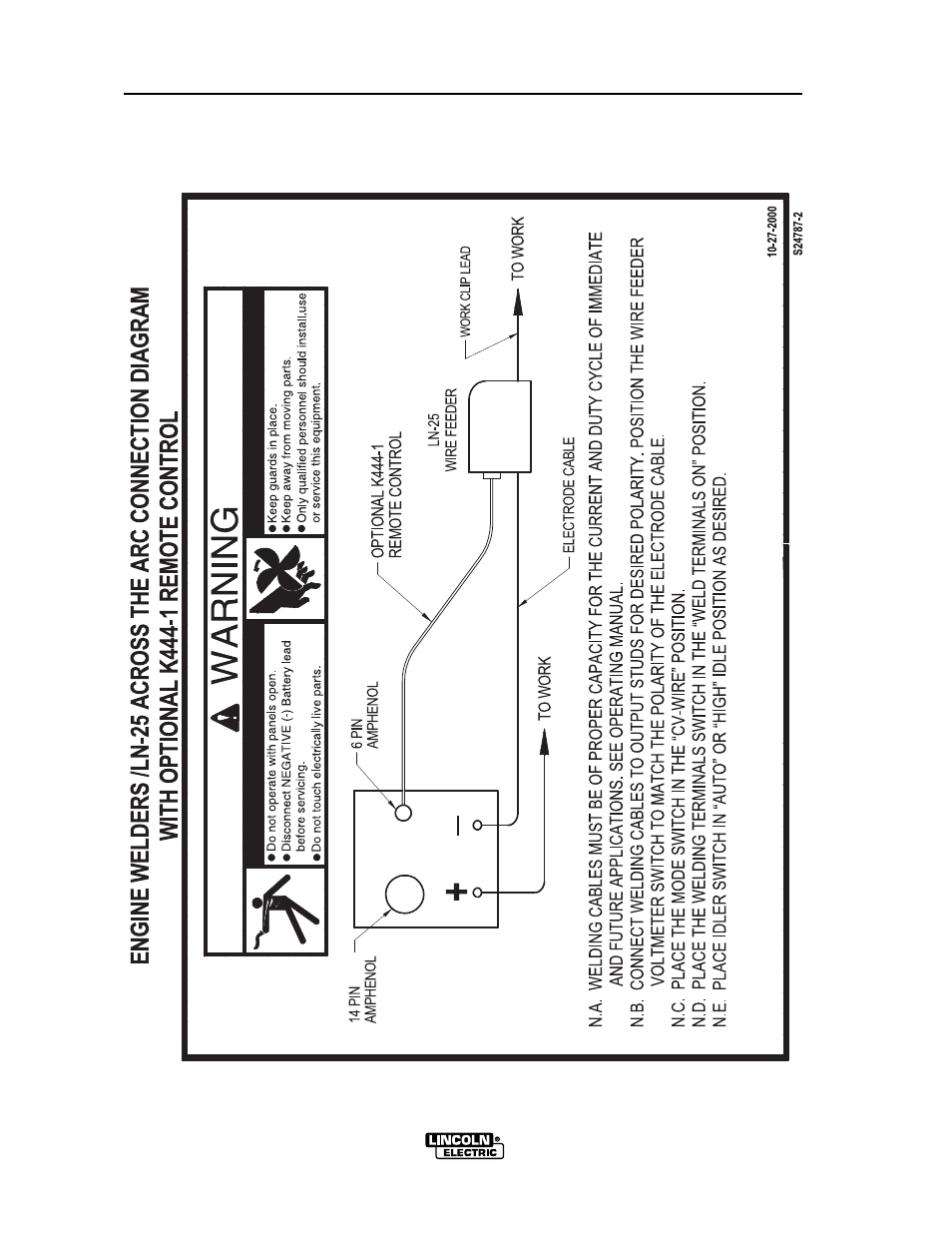 lincoln electric vantage 575 user manual page 46 54 rh manualsdir com 1999  Lincoln Navigator Engine Diagram 1965 Lincoln Wiring Diagrams Automotive