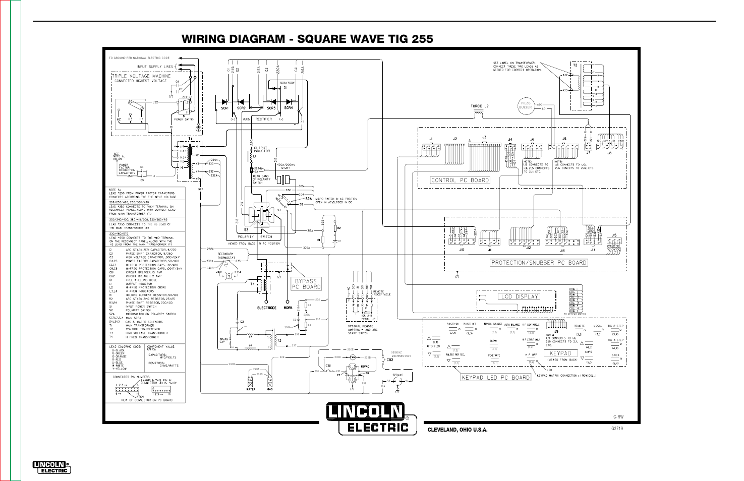 Lincoln Electric Wiring Diagrams Simple Diagram 300d Vacuum Electrical Square Wave Tig 255 Trimble