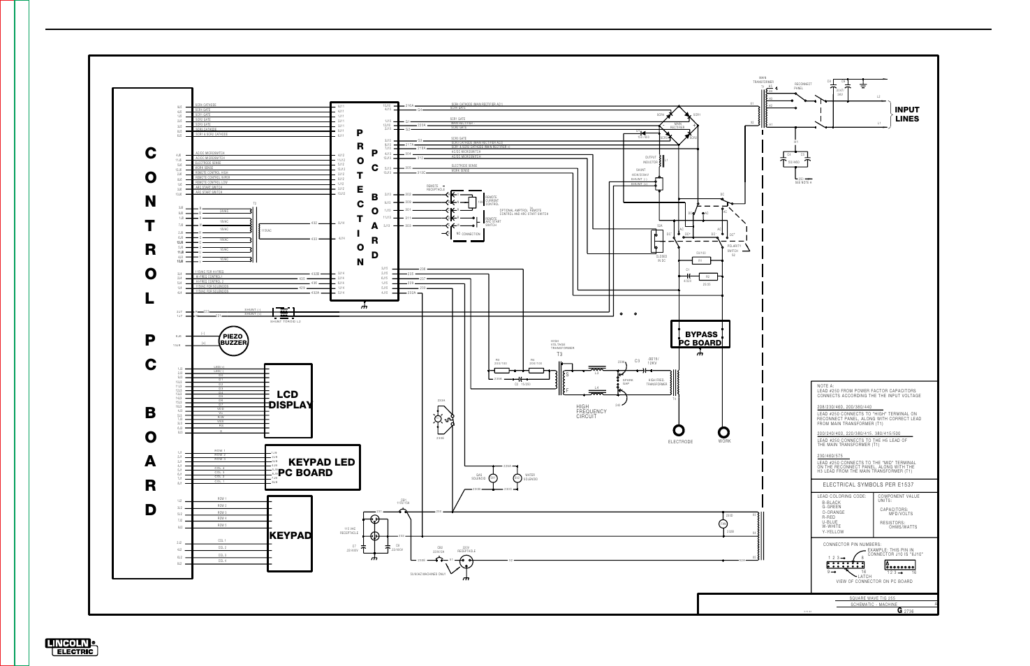 Electrical Diagrams Machine Schematic Square Wave Tig 255 G 10