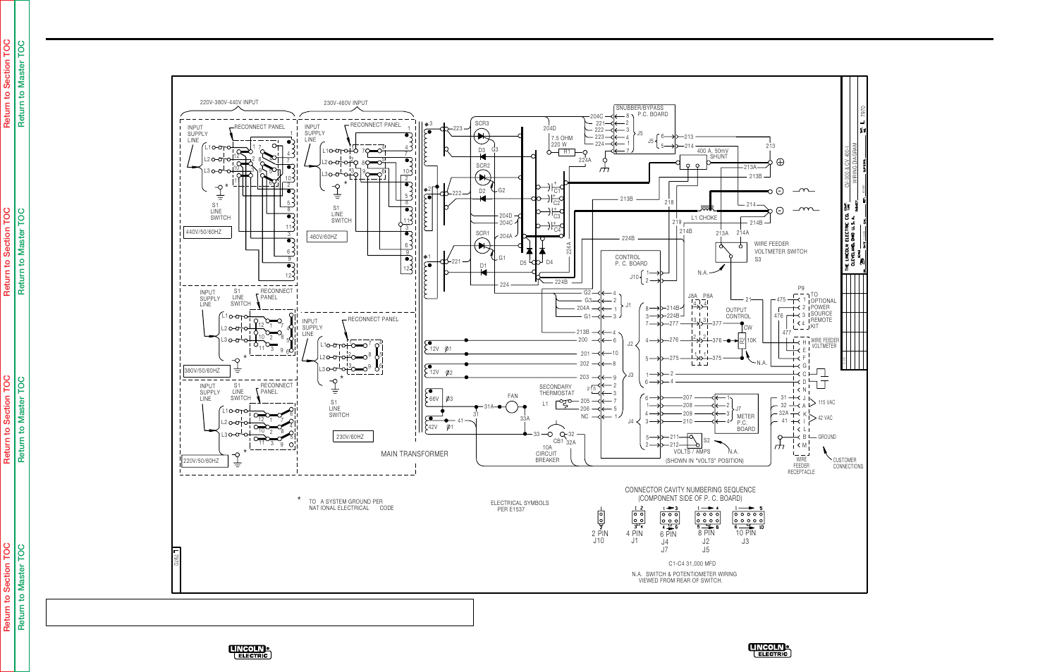 Electrical    diagrams        Wiring       diagram    for code 9456      Lincoln    Electric IDEALARC CV300 User Manual