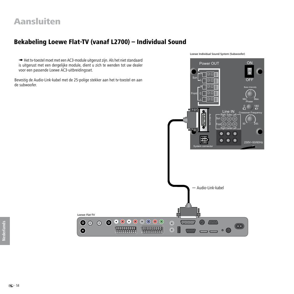 aansluiten loewe individual sound speaker system user manual rh manualsdir com System vs Computerized System Manual system audio aura 50 manual
