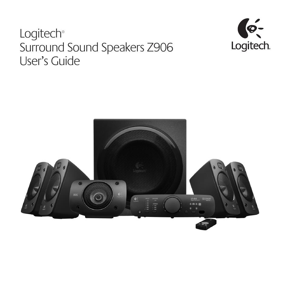 logitech surround sound speakers z906 user manual 52 pages rh manualsdir com Logitech Z506 logitech speaker system z906 user manual