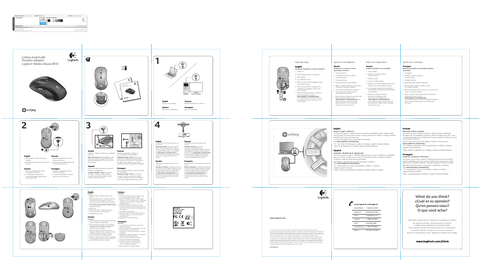 Logitech Wireless M510 910-001822 User Manual | 1 page
