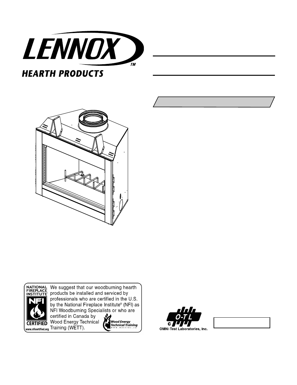 lennox hearth oasis series lso 43 user manual 20 pages