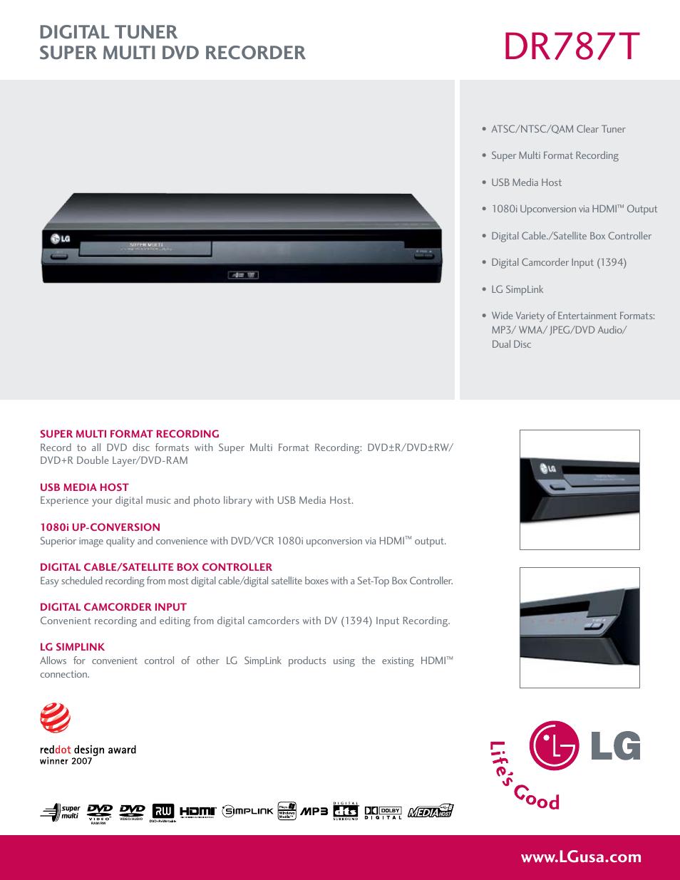 lg dr787t user manual 2 pages rh manualsdir com LG Cell Phone Operating Manual LG Instruction Manual