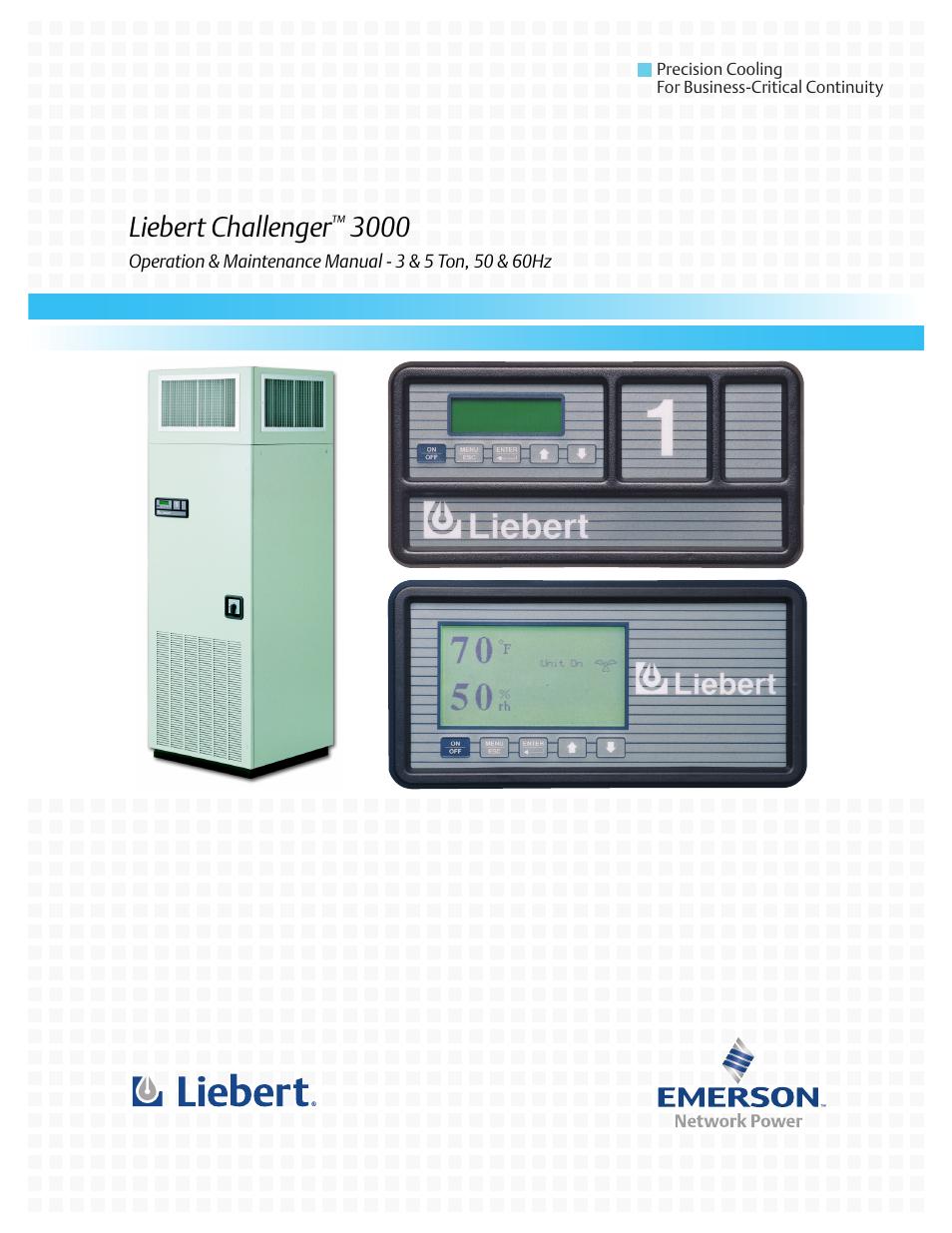 liebert challenger 3000 user manual 76 pages rh manualsdir com liebert hiross air conditioning+manual Liebert Parts