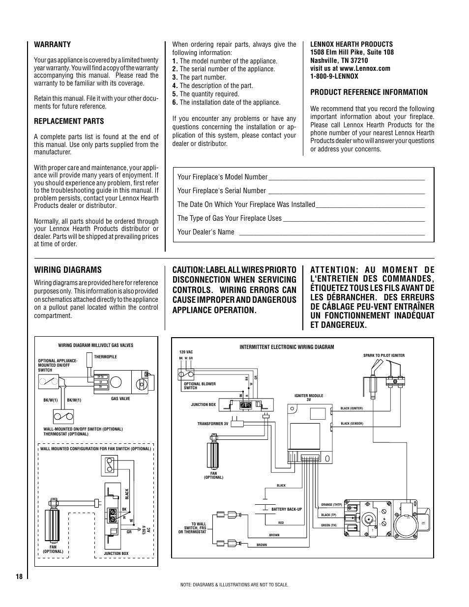 Wiring Diagrams  Warranty  Replacement Parts