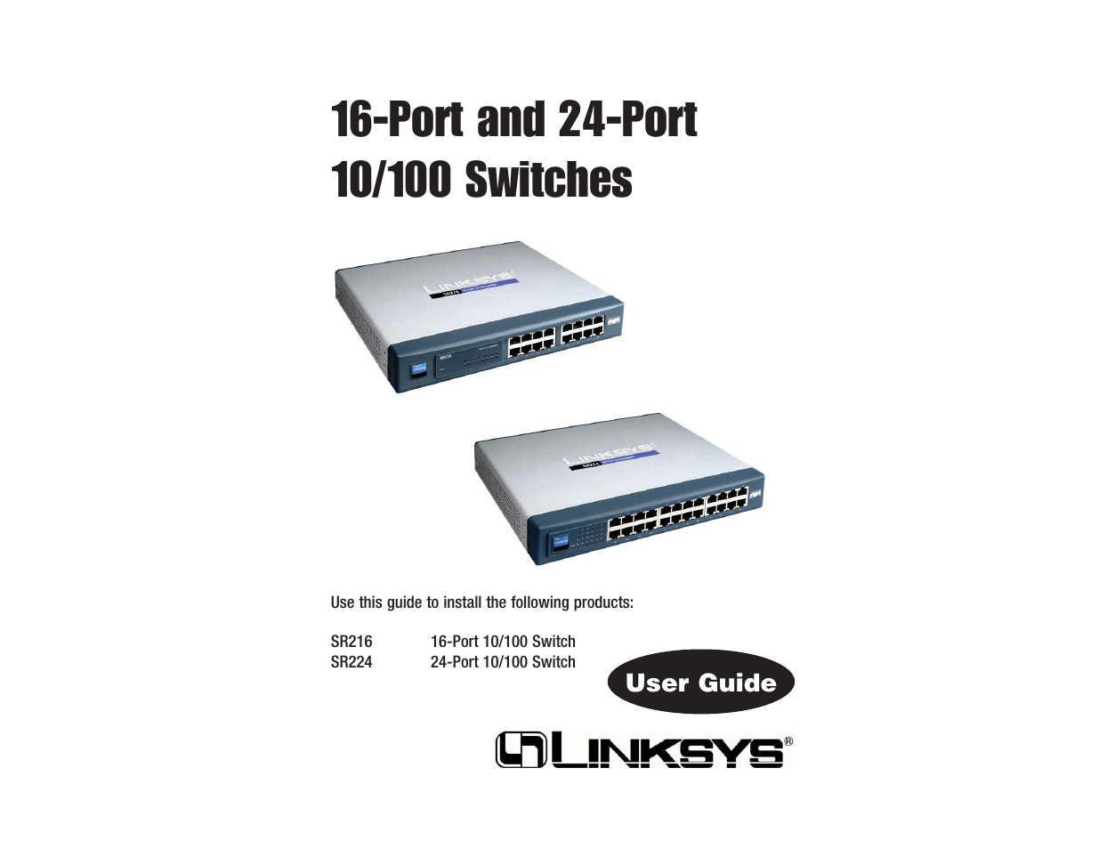 linksys sr216 user manual 9 pages rh manualsdir com Cisco Linksys Linksys Sr224