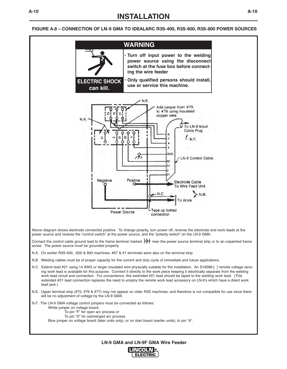 Lincoln Ln7 Wiring Diagrams Auto Electrical Diagram 2001 Ford E250 Fuse Box Image Details Idealarc Welder