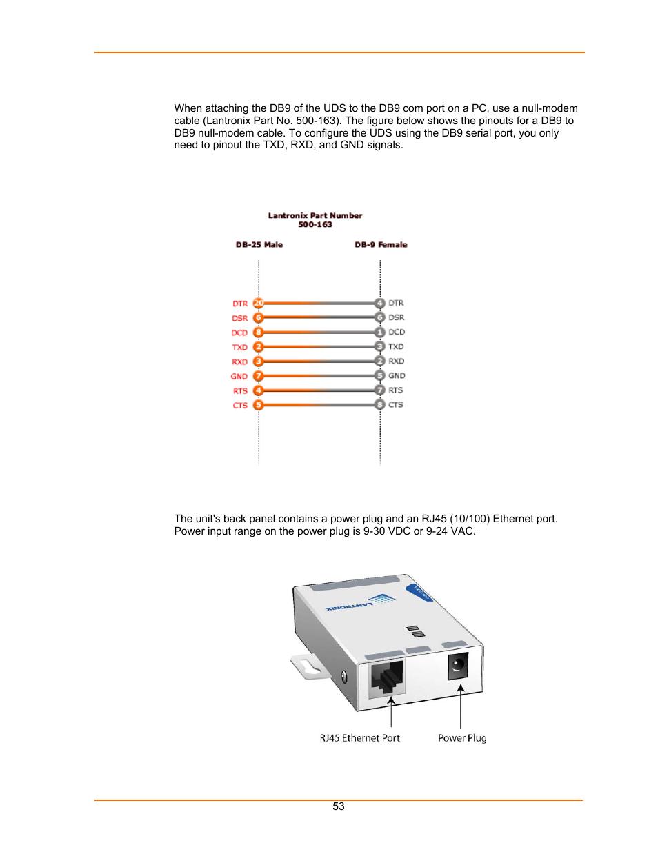 Db9 null modem pinout