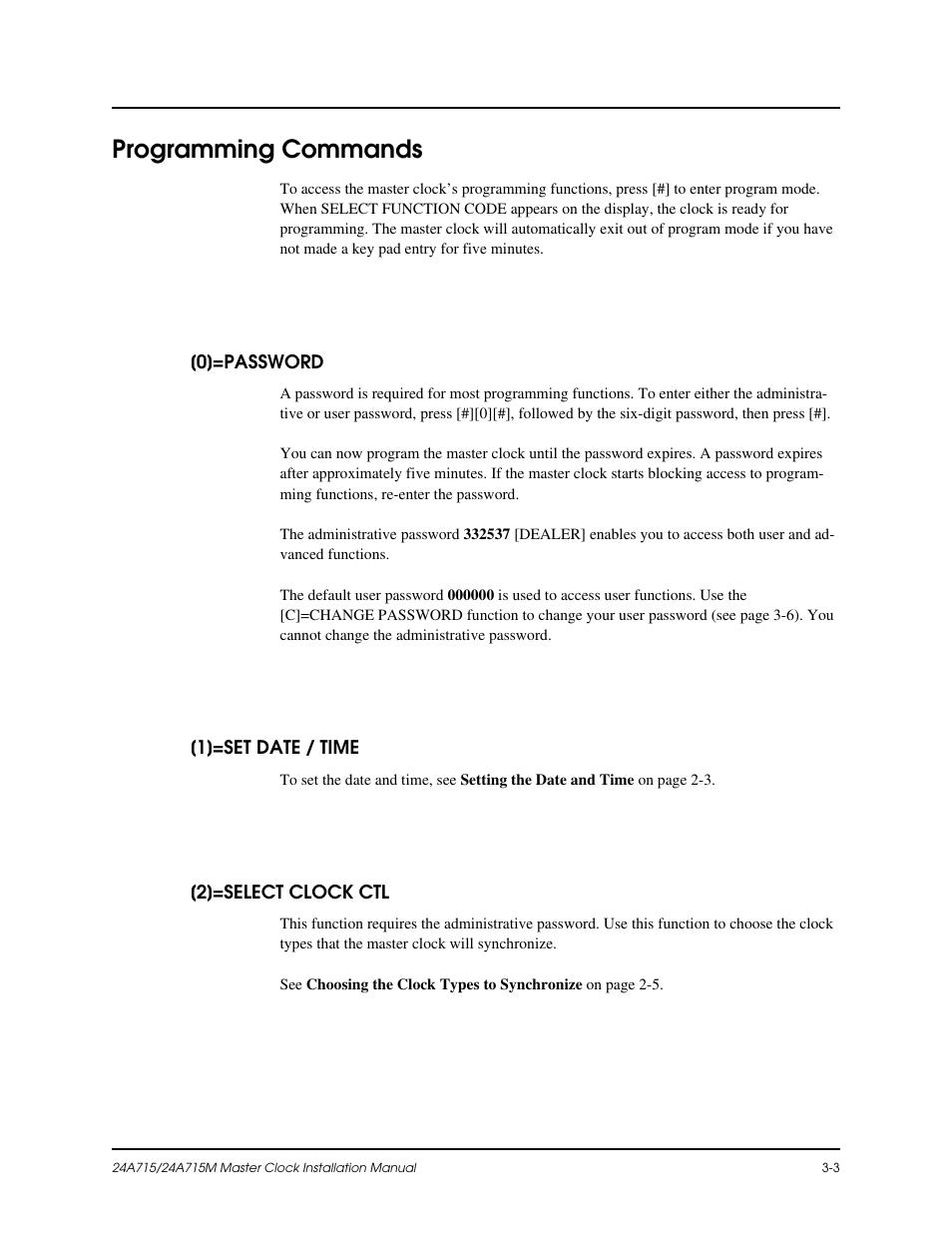 dukane master clock manual