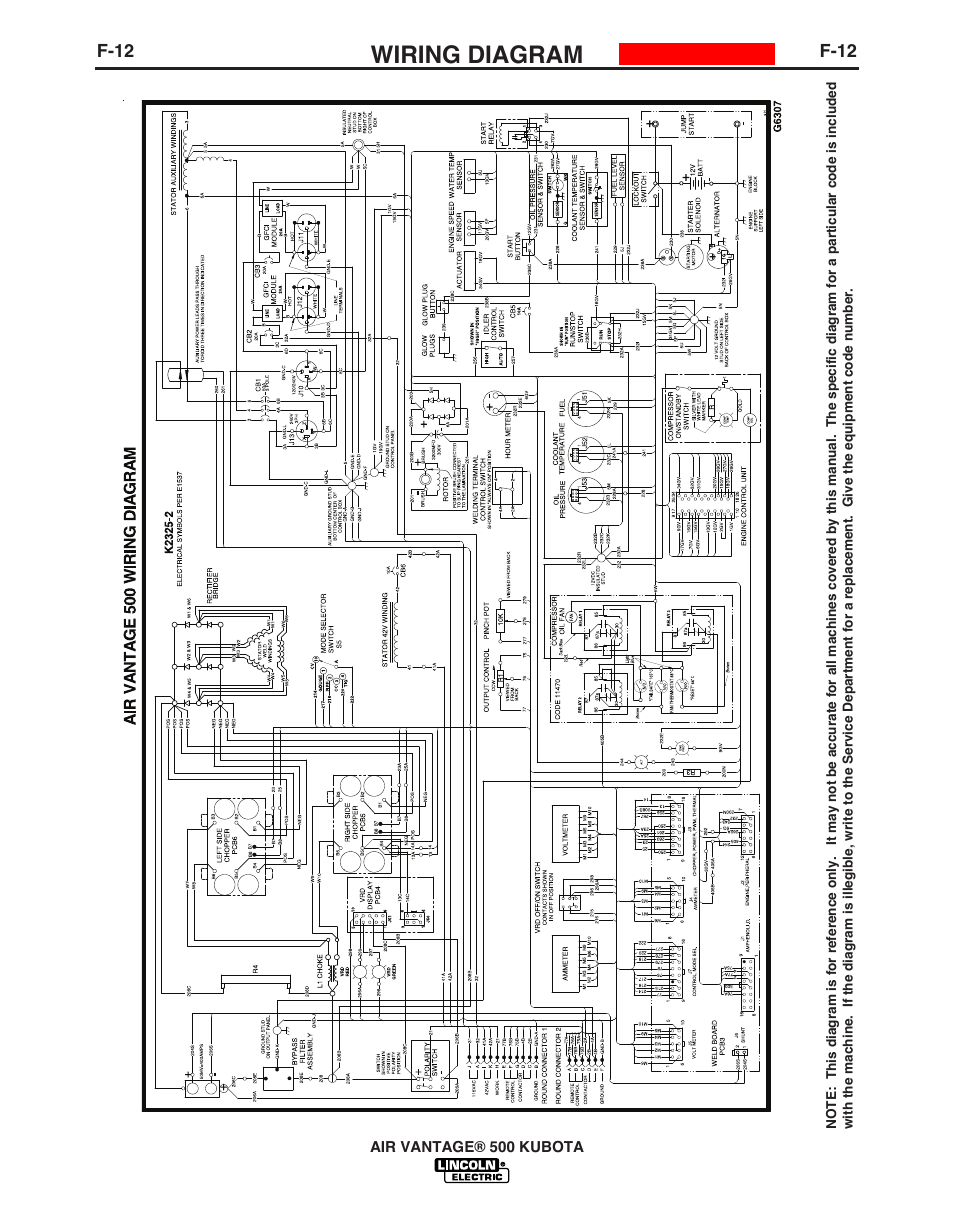Wiring       diagram      Lincoln AIR VANTAGE IM985    User    Manual