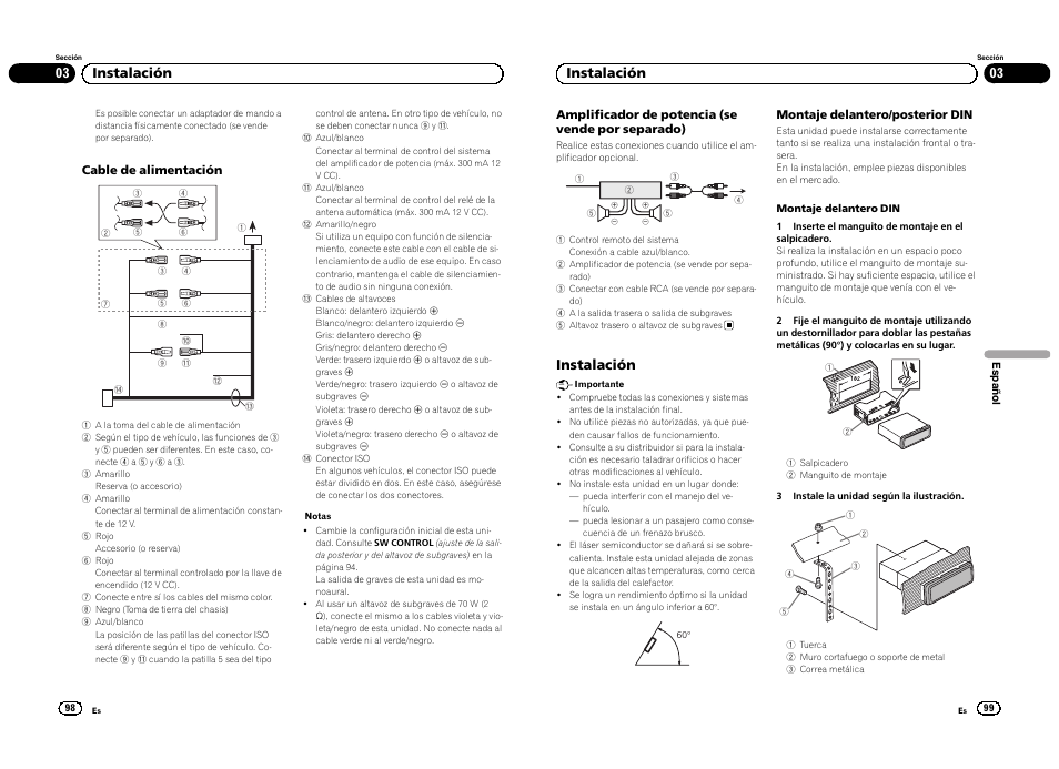03 instalaci n instalaci n pioneer deh 3300ub user manual page rh manualsdir com Pioneer Deh 3300UB Faceplate pioneer deh-3300ub owners manual