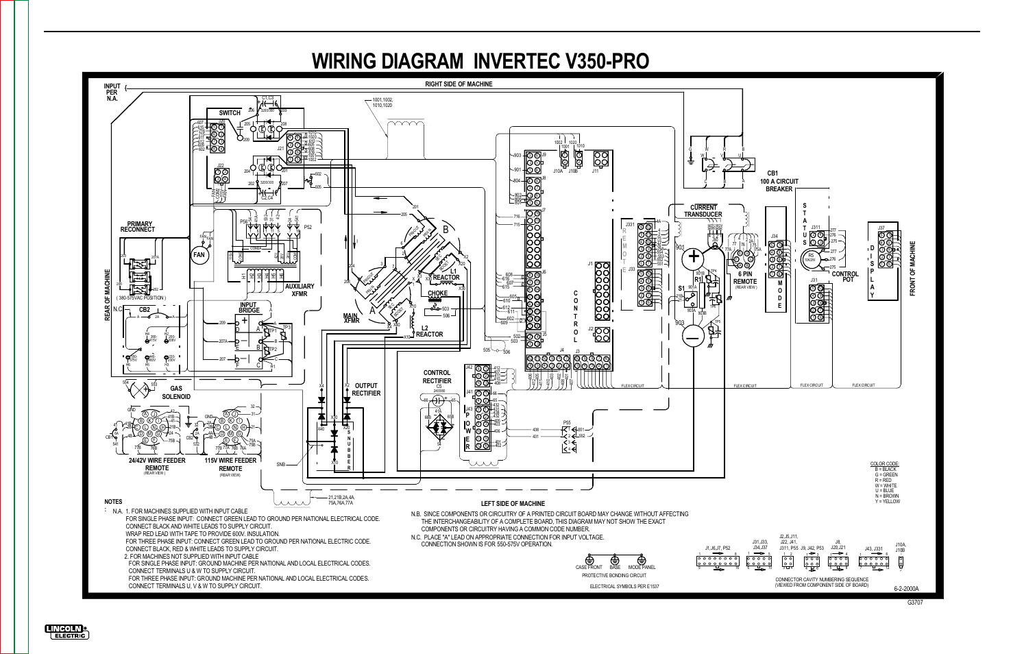 Wiring diagram invertec v350-pro, Electrical diagrams, Wiring diagram -  invertec v350-pro | Lincoln Electric INVERTEC V350-PRO SVM152-A User Manual  | Page ...