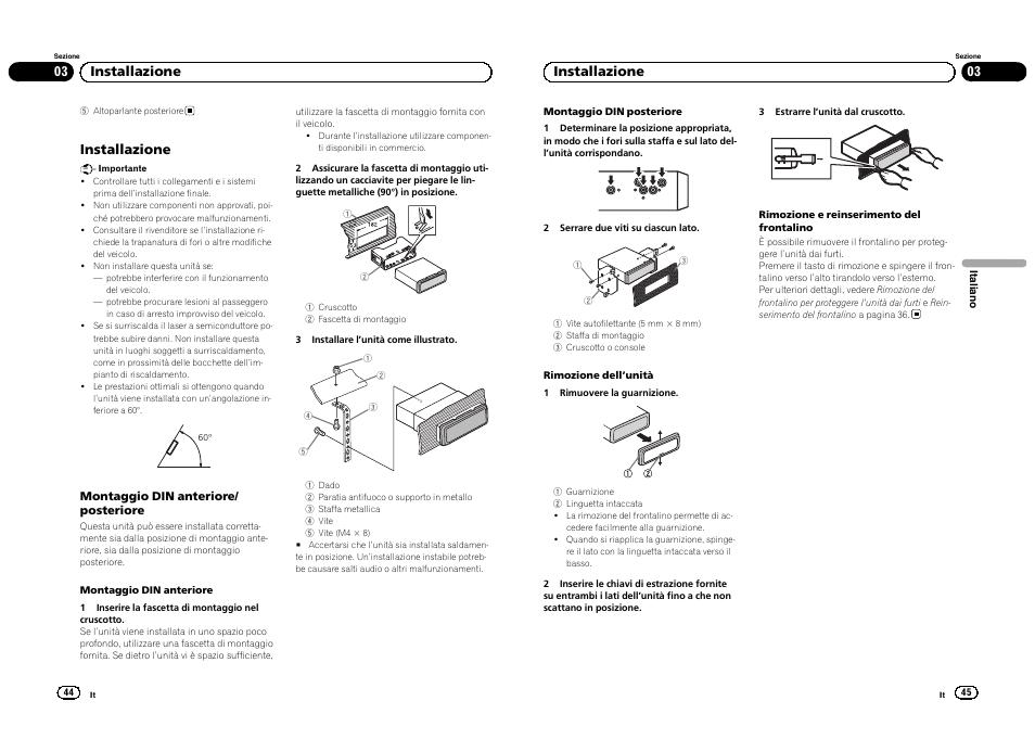 installazione 03 installazione pioneer deh 1300mp user manual rh manualsdir com Pioneer Deh 1300Mp Manual PDF Pioneer Deh 1300Mp Wiring Harness