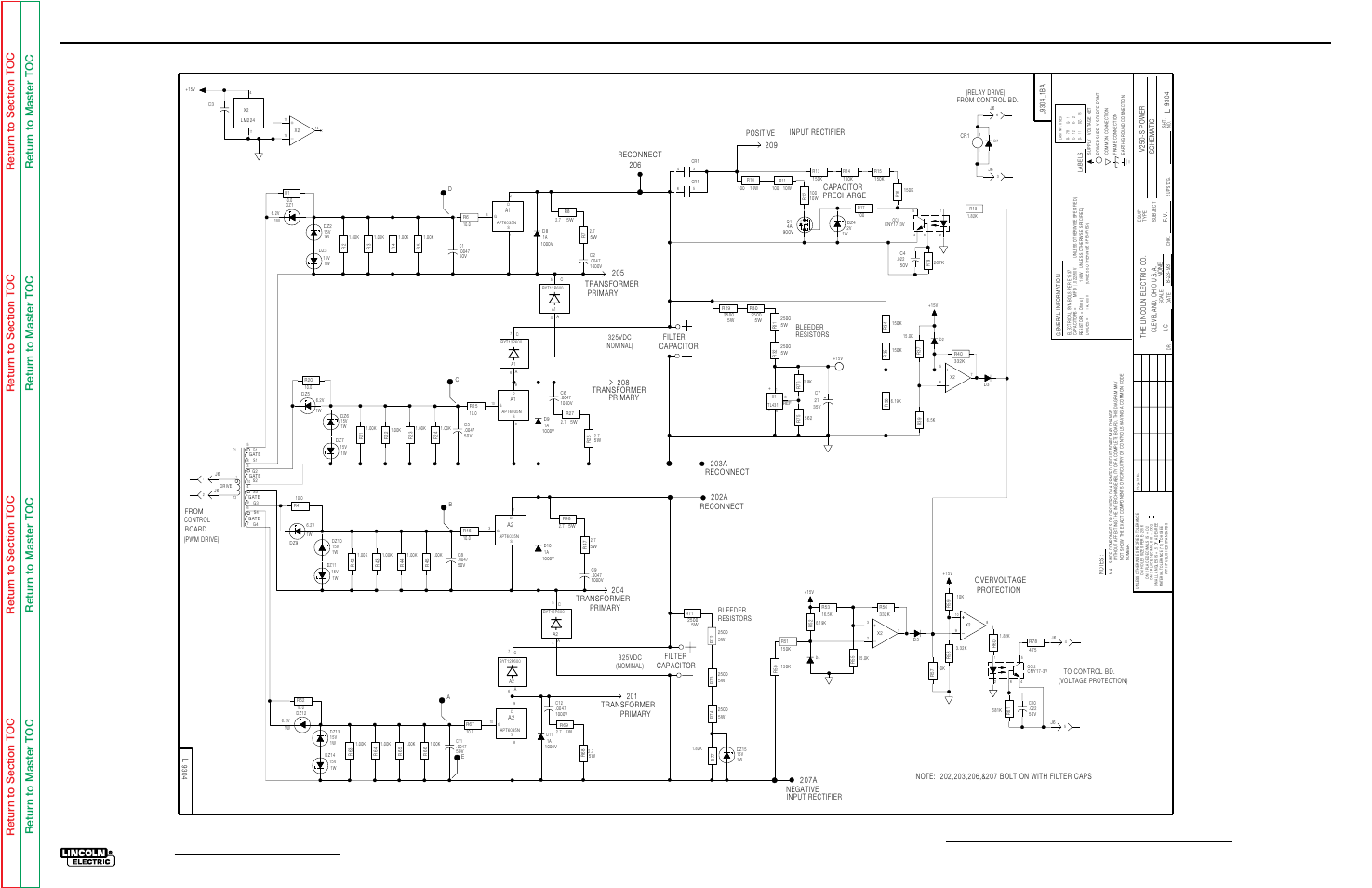 Electrical Diagrams Power Pc Board G2684 Schematic Invertec C11 Wiring Diagram V250s Lincoln Electric V250 S User Manual Page 118