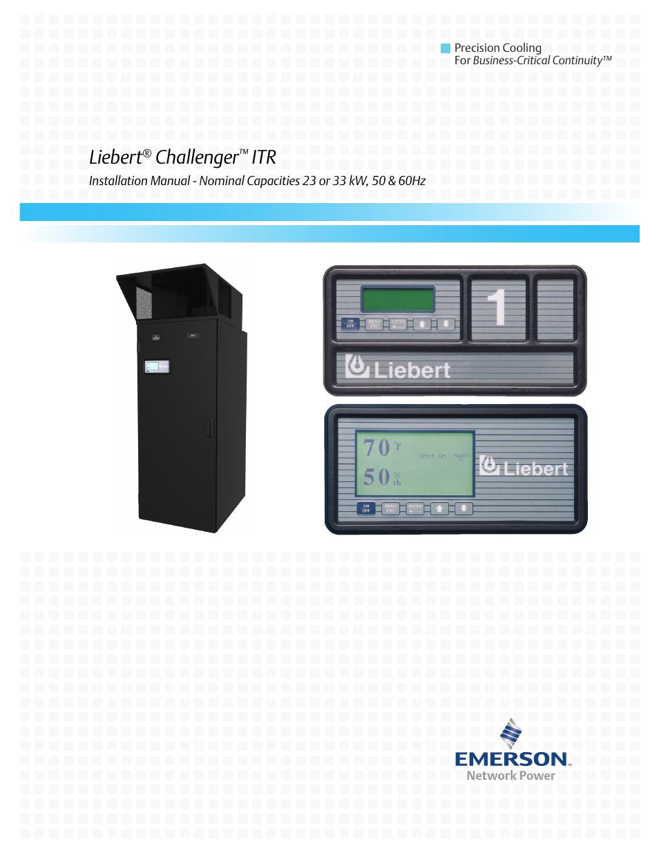 Liebert Challenger ITR User Manual | 64 pages